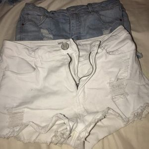 2 pairs of rsq high rise jean shorts